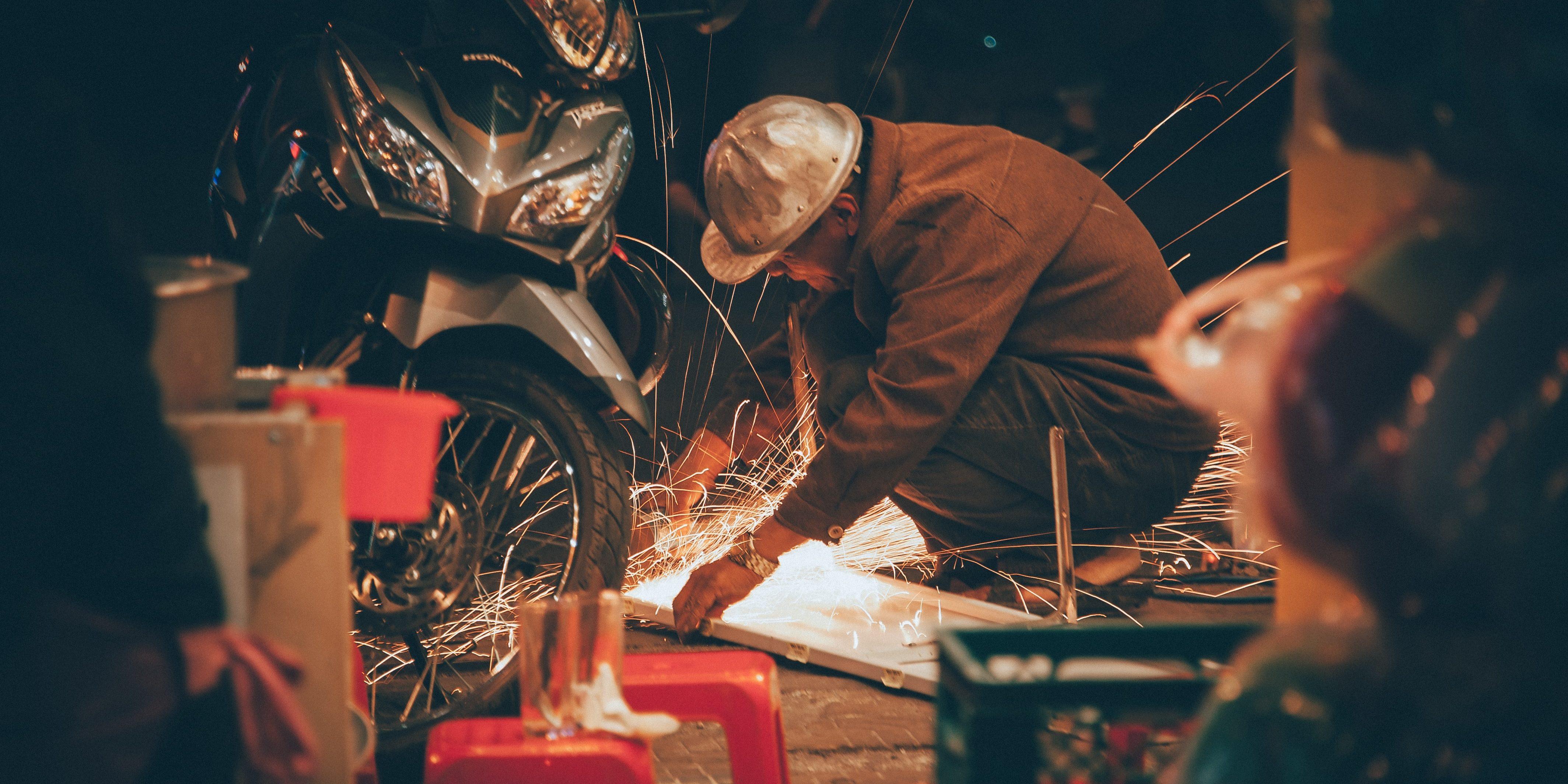 motorcycle welder